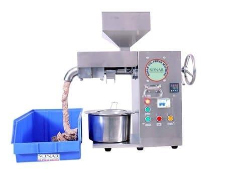 Commercial cold press oil maker machine