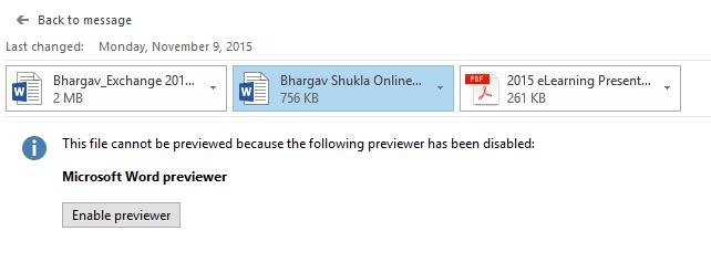 Office 2016 error opening file… | Bhargav's IT Playground