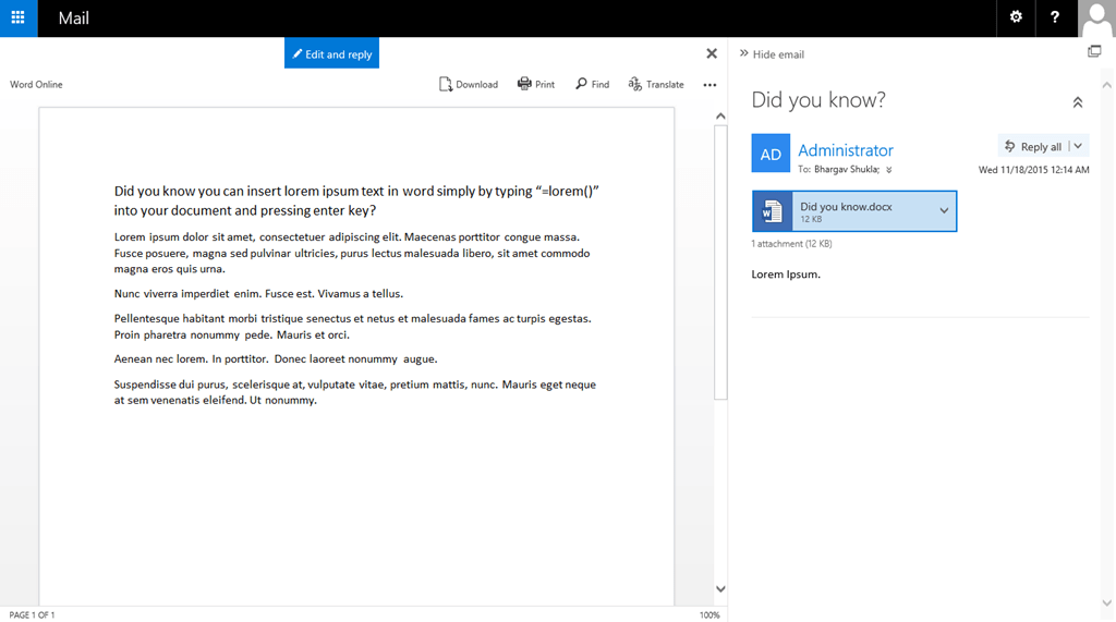 Configuring rich attachment preview in Exchange 2016