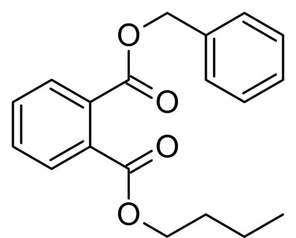 Butylbenzyl phthalate (BBzP).