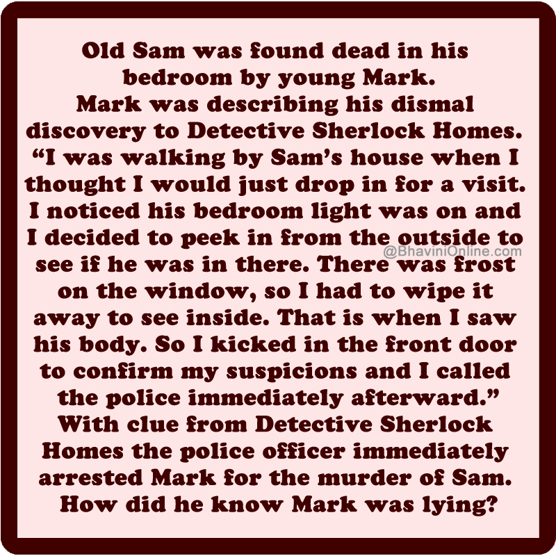 Murder Mystery: How Was Mark Arrested for Murder