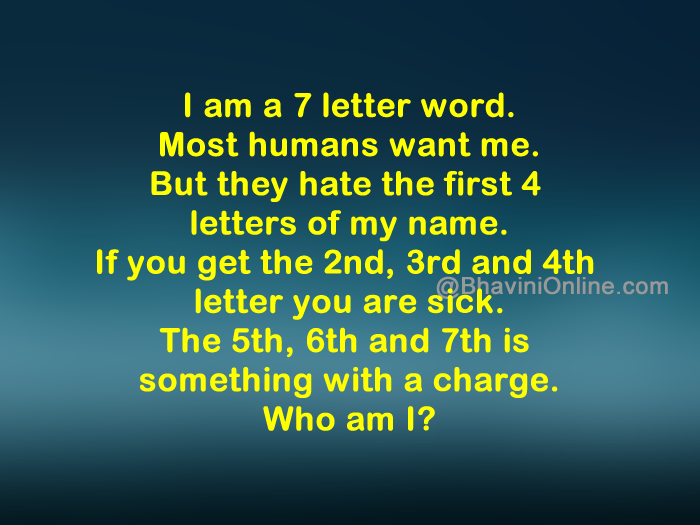 word riddle games: i am a seven letter word | bhavinionline