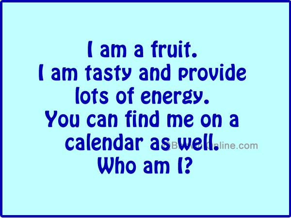 Word Riddle Games I Am A Fruit Bhavinionline Com