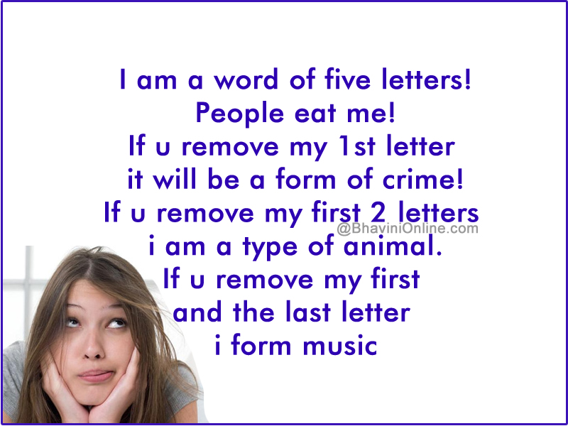 Word Riddle Games If You Remove My 1st Letter It Will Be A Form Of