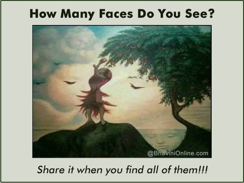 Picture Riddle: How Many Faces Do You See? | BhaviniOnline.com - photo#43