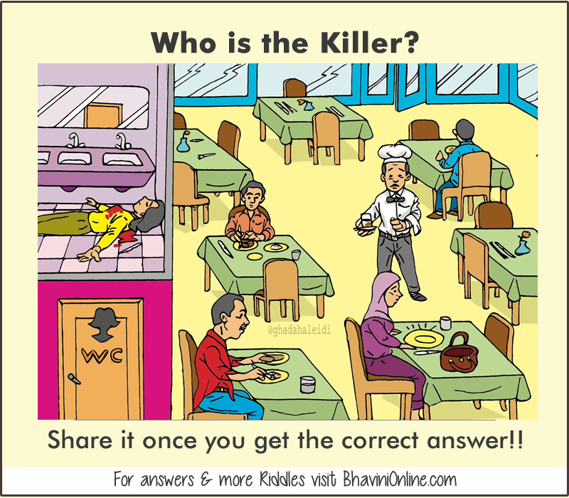 Illustration Showing Conundrum Detective Riddle In Hindi