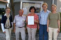 Anerkennungsurkunde Bürgerpreis 2008 für Kinder- und Jugendarbeit