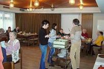 Landtagsabgeordnete Katrin Altpeter zu Besuch beim Mittagstisch