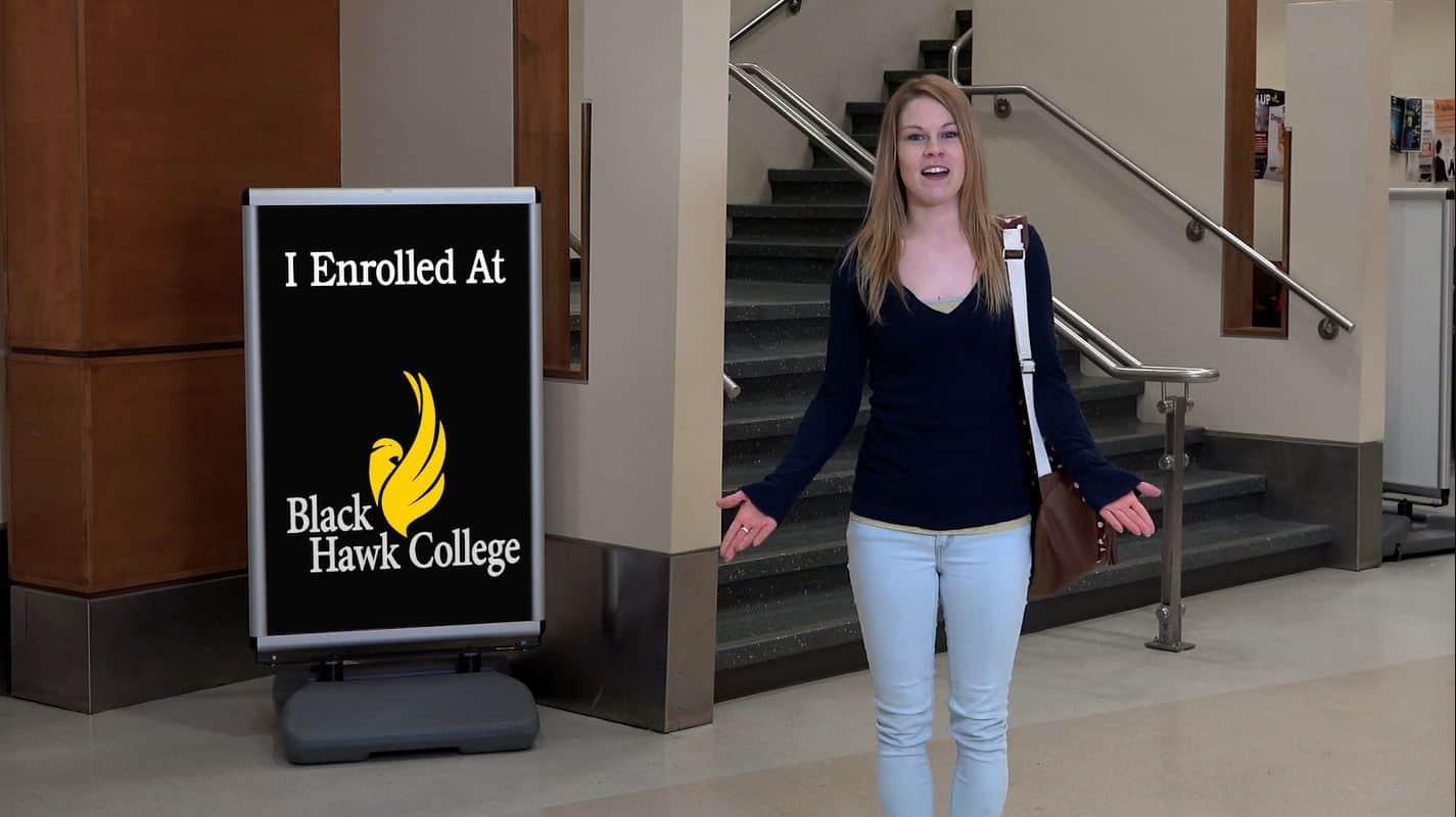 Student promoting Enrollment