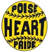 softball logo poise heart pride
