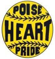 softball logo poise heart pride