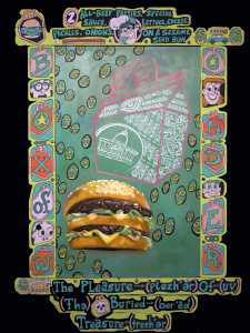 """Box of Wonder"" illustration with Big Mac hamburger by Steve Banks & Heidi Hernandez"