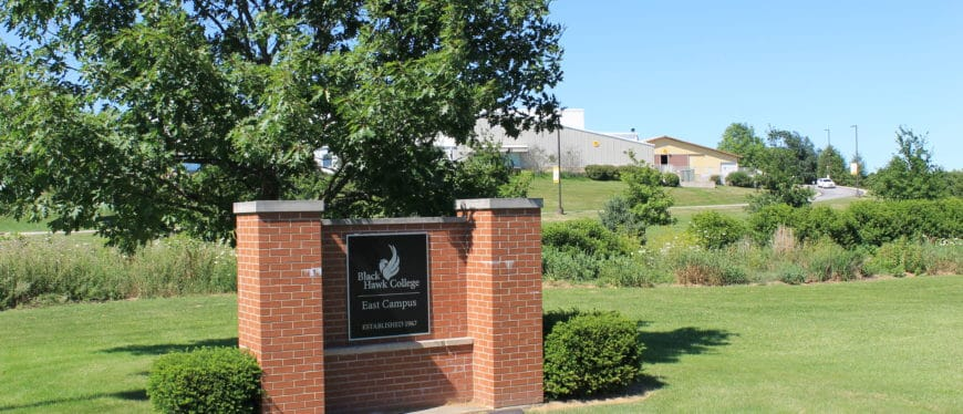 East Campus entrance sign