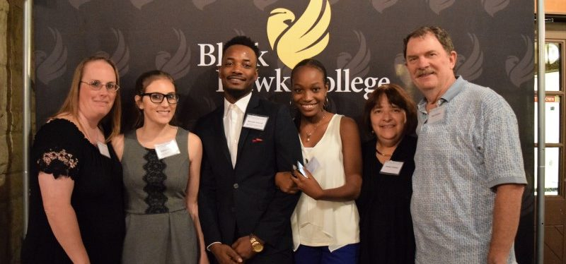 Black Hawk College Foundation Scholarship Appreciation donors and recipients