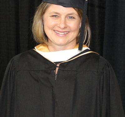 Michelle Johnson portrait in cap & gown