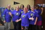 advising staff wearing We Love Transfer Students t-shirts