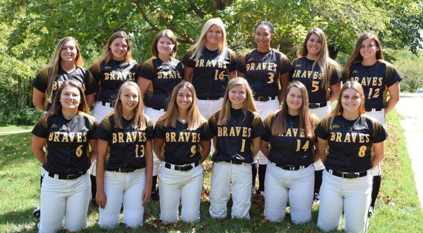Softball team in uniforms