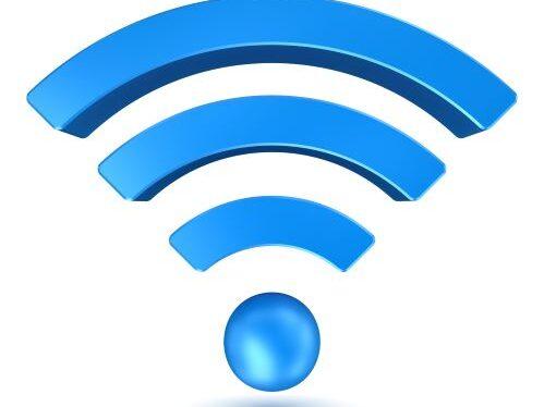 Wi-Fi symbol in blue
