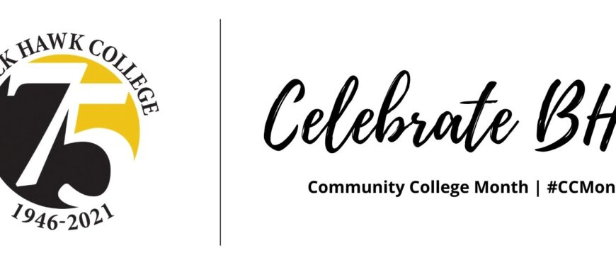 75th anniversary logo with Celebrate BHC Community College Month