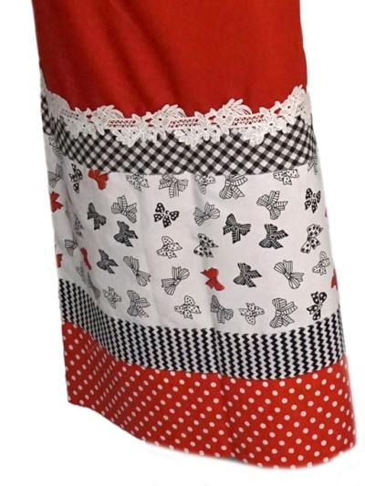 Casual Rida Red With White Butterfly Panel