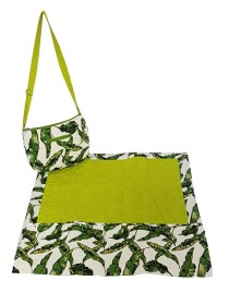 Green Leaf Printed Quilted Women Masalla Bag