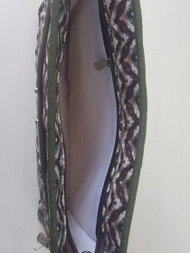 D Wine Color Imported Print Non Quilted Masalla Pouch