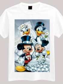 Evergreen Collection Mickey Mouse & Donald Duck Printed Kids T-shirt