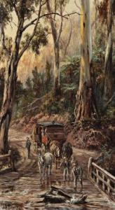 Lot 72 - James Alfred Turner, Broken Bridge, 1892, est. $6,000-8,000. A Bridge too far?