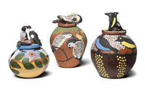 3 Hermannsburg Pots, lot 152