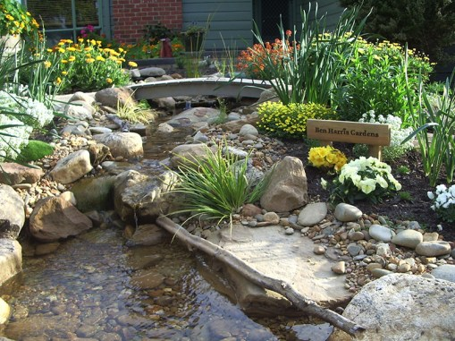 Garden stream in Blackburn