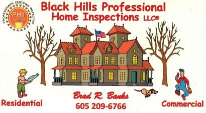 Black Hills Professional Home Inspections Rapid City South Dakota - Sturgis SD Home Inspections, Home Inspectors In Sturgis SD