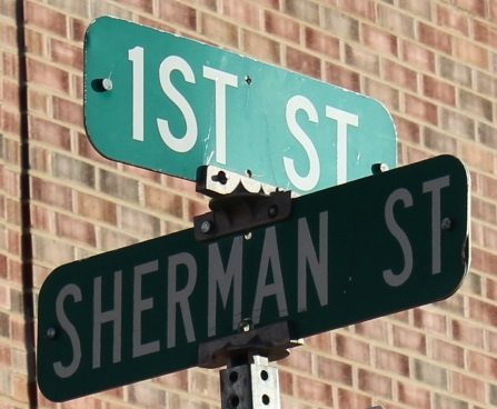 1st and Sherman Street