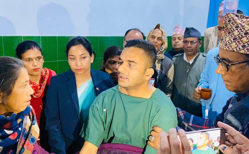 माडीका वडाध्यक्ष पौडेल भरतपुर अस्पतालबाट डिस्चार्ज