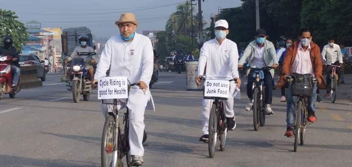 विश्व मुटु दिवसको अवसरमा साइकल र्याली सम्पन्न