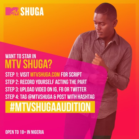 MTV SHUGA AUDITION steps (a) 2