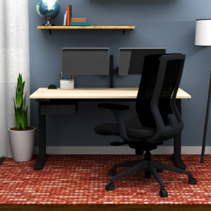 Home Office- Desk and Lamp - Clear design