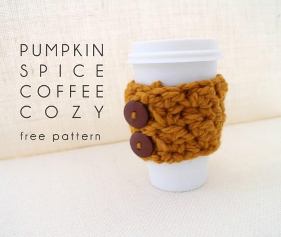 Pumpkin Spice Coffee Cozy Header Image