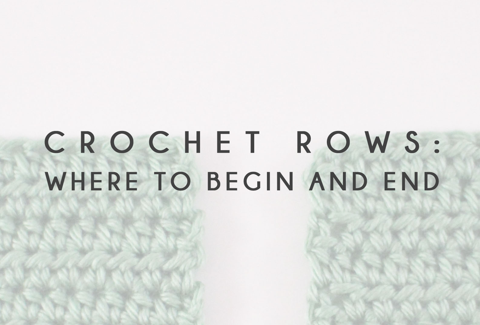 Crochet rows where to begin and end bhooked crochet knitting crochet rows where to begin and end ccuart Gallery