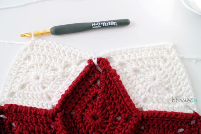 Crochet Star Hexigon Border