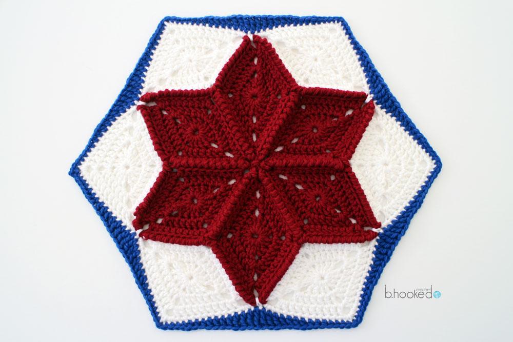 crochet star hexagon