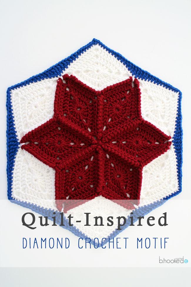 Quilt Inspired Diamond Crochet Motif