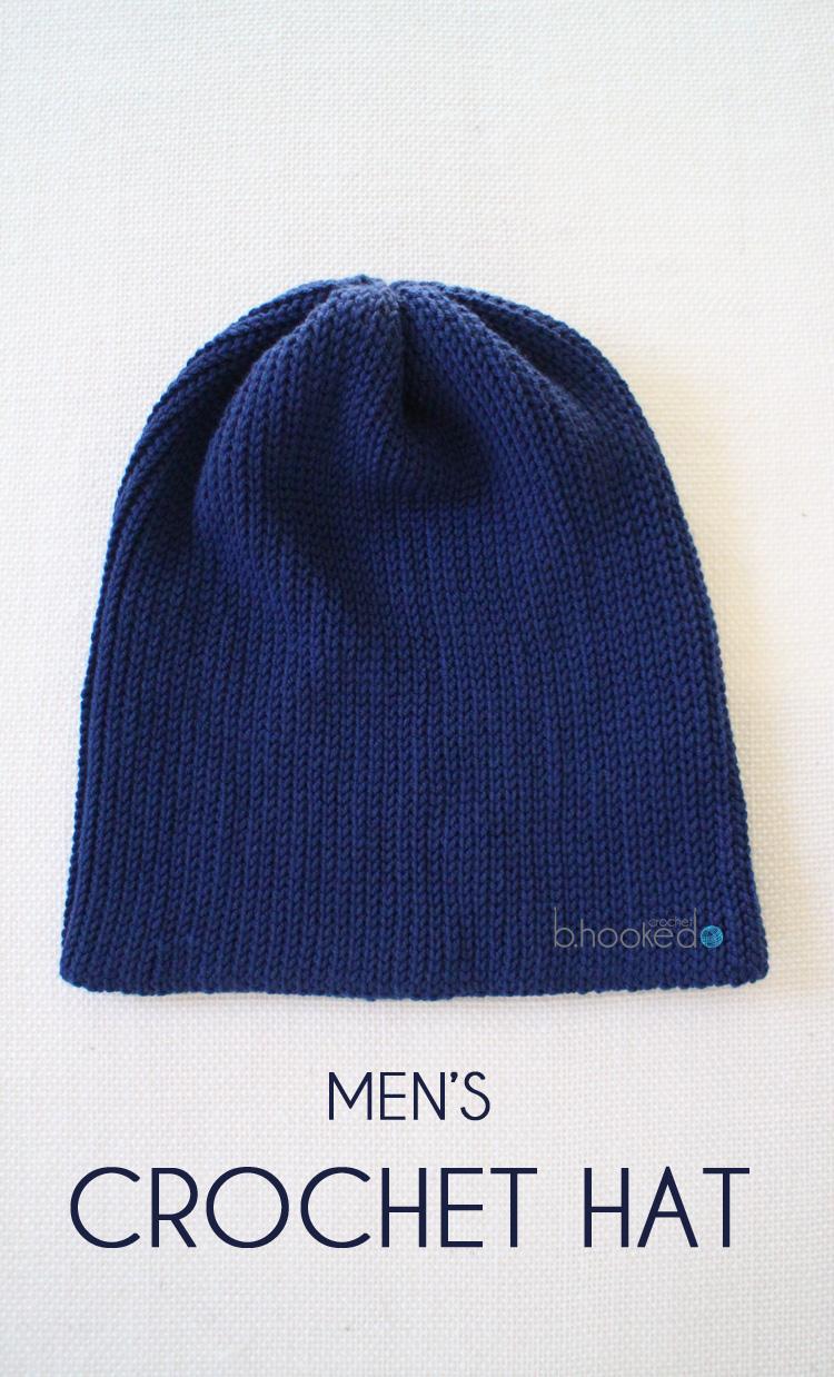7422cf4f698 Men s Crochet Hat - Free Pattern - B.hooked Crochet