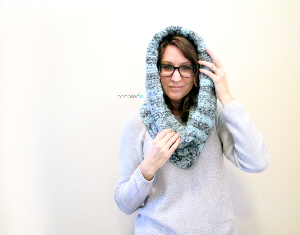 Crochet Hooded Cowl Bhooked Crochet Knitting Podcast