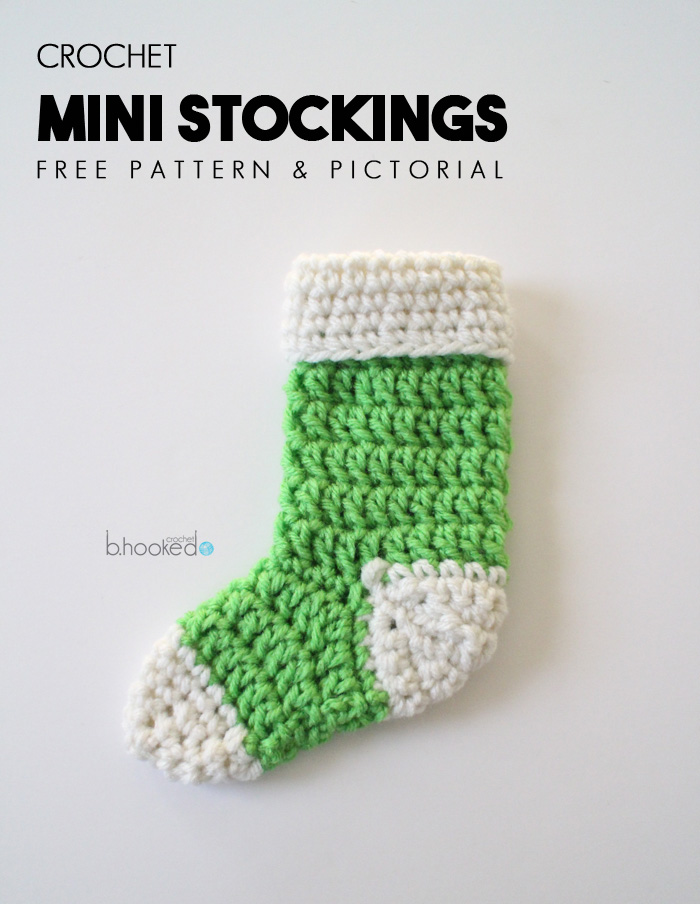mini crochet stockings free pattern pictorial b hooked crochet