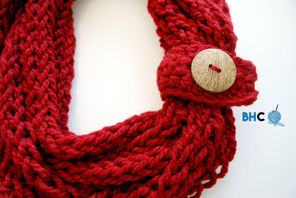Finger Knit Infinity Scarf - B.hooked Crochet