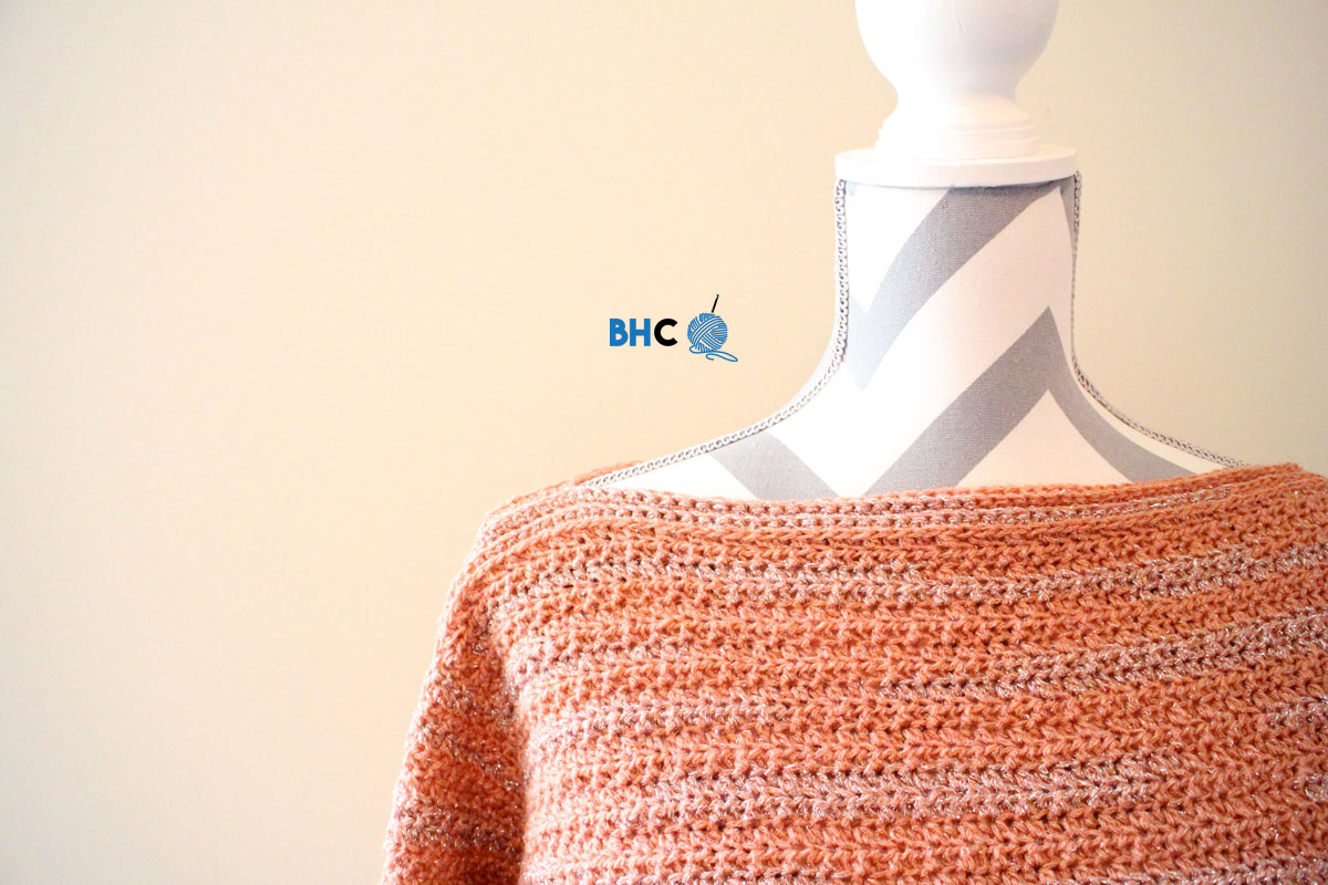 Learn How To Crochet the Patons Boat Neck Pullover With Me! - B ...