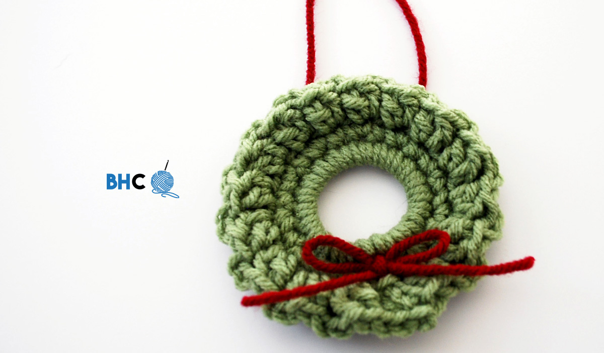 Mini Crochet Wreath - B.hooked Crochet