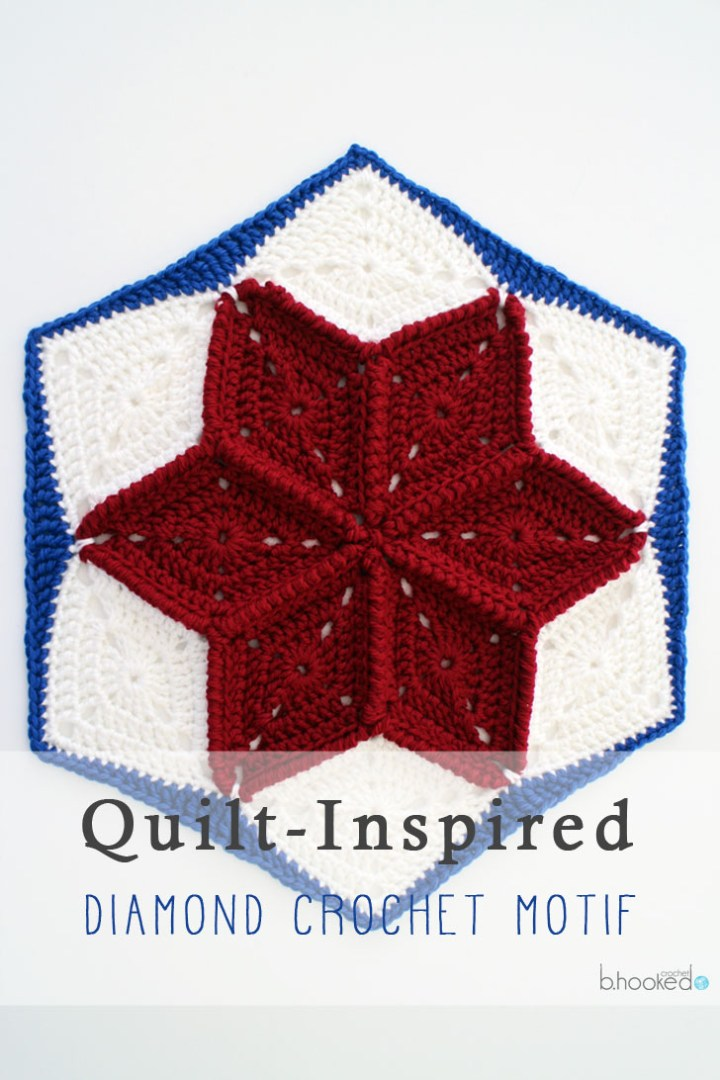 crochet star hexagon