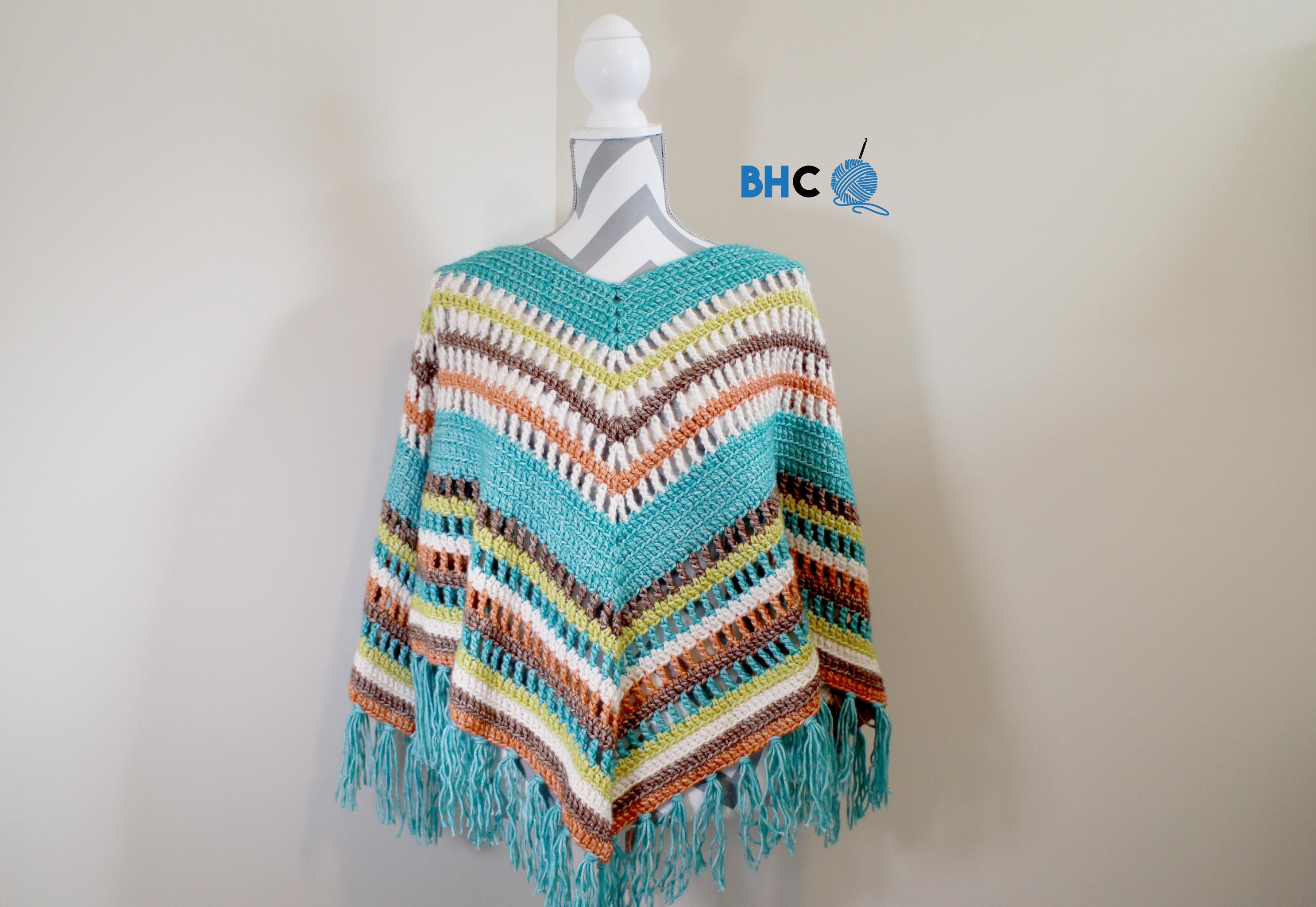 Fall Crochet Poncho - Crochet Along - B.hooked Crochet | Knitting ...
