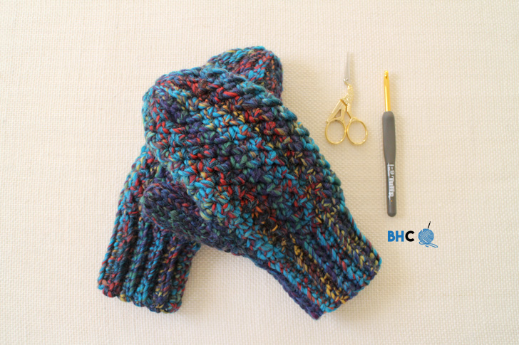 Woven Crochet Mittens Pattern Tutorial Bhooked Crochet